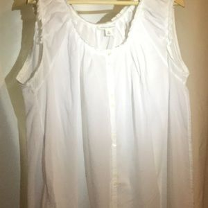 Banana Republic sleeveless blouse XL